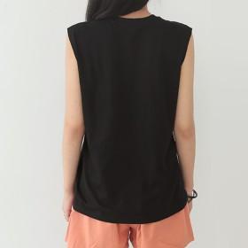 Tシャツ - DAILY NJ 新作 春夏 Tシャツ トップス ノースリーブTシャツ タンクトップ インナー ラウンドネック スパンコールTシャツ カジュアル涼しい韓国ファッション at192
