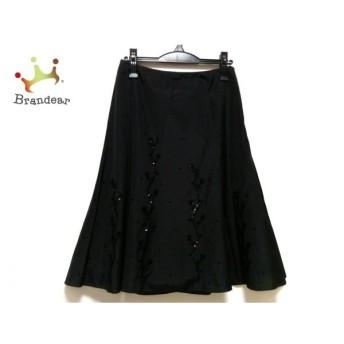 エポカ EPOCA スカート サイズ40 M レディース 美品 黒 ビーズ/スパンコール 新着 20190710