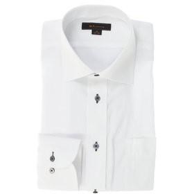 【m.f.editorial:トップス】形態安定レギュラーフィット ワイドカラー長袖ビジネスドレスシャツ