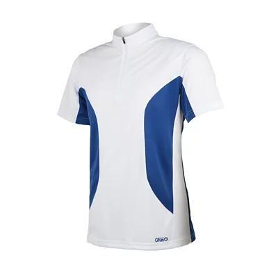 GFun 男立領吸濕快乾排汗衫 - 白藍
