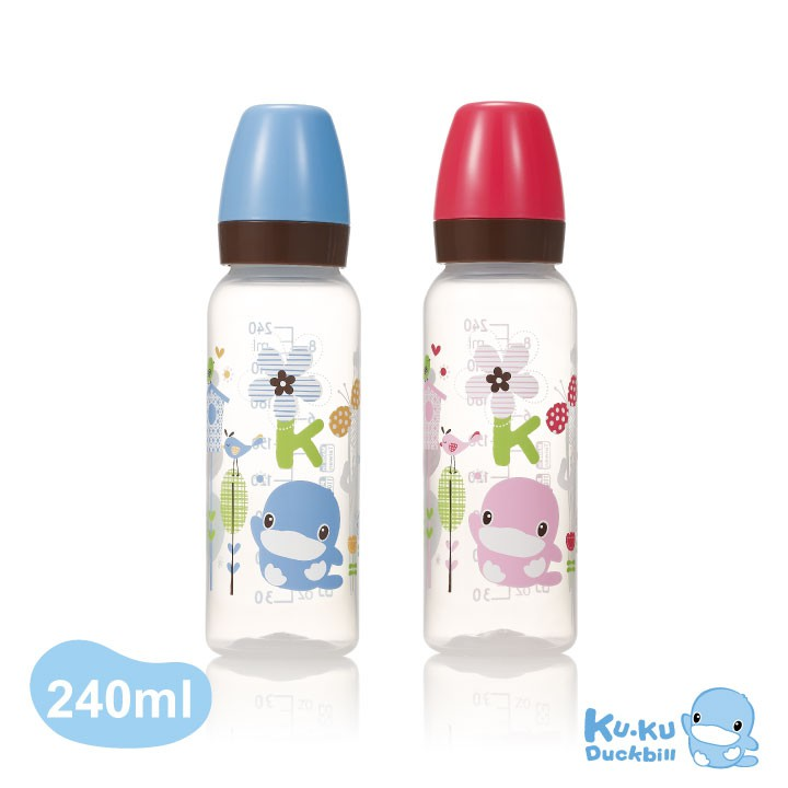KUKU酷咕鴨歐風經典PP標準奶瓶-240ml