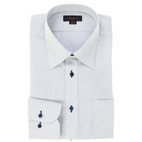 【m.f.editorial:トップス】形態安定スリムフィット レギュラーカラー長袖ビジネスドレスシャツ
