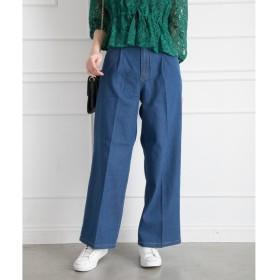 Libby & Rose デニムセンタープレスワイドパンツ レディース 5,000円(税抜)以上購入で送料無料 夏 レディースファッション アパレル 通販 大きいサイズ コーデ 安い おしゃれ お洒落 20代 30代 40代 50代 女性 パンツ ズボン