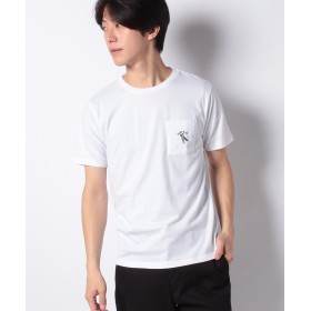 【21%OFF】 イッカ ワンポイントサーフ刺繍Tシャツ メンズ ホワイト L 【ikka】 【セール開催中】