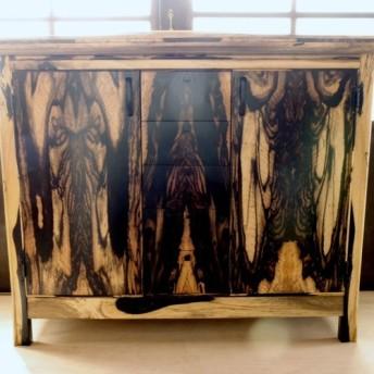 墨絵のような戸棚/柿(黒柿) ka_1803