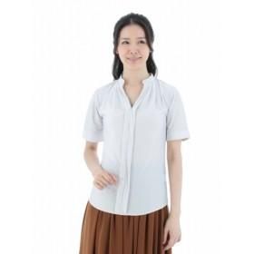 [マルイ]【セール】スパンボーダーマオカラーカットシャツ/m.f.エディトリアル(m.f.editorial)