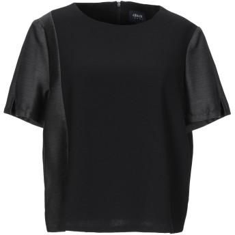 《セール開催中》ARMANI JEANS レディース ブラウス ブラック 38 ポリエステル 100% / ウール / レーヨン