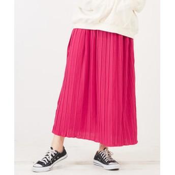 【CUBE SUGAR:スカート】WEB限定 カットプリーツスカート
