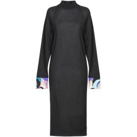 《期間限定セール開催中!》EMILIO PUCCI レディース 7分丈ワンピース・ドレス ブラック XS バージンウール 100% / シルク