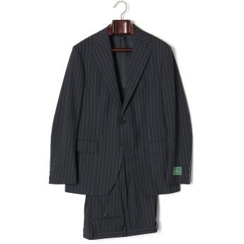 【60%OFF】STRASBURGO-F ストライプ ノッチドラペル スーツ ネイビーストライプ 50