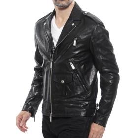ディースクエアード DSQUARED2 ライダースジャケット LEATHER JACKET レザージャケット ブルゾン ブラック メンズ s74am0956-sy1354-900