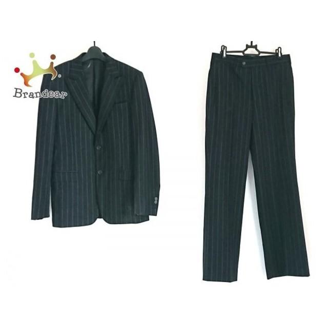 the best attitude 4d170 36655 プラダ PRADA シングルスーツ サイズ46 S メンズ 黒×パープル 肩 ...