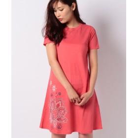 【9%OFF】 デシグアル WOMAN KNIT DRESS SHORT SLEEVE レディース ピンク系 XL 【Desigual】 【タイムセール開催中】