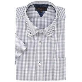 【m.f.editorial:トップス】形態安定スリムフィット ドゥエボットーニボタンダウン半袖ビジネスドレスシャツ