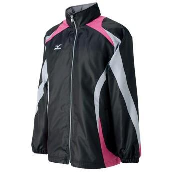 MIZUNO SHOP [ミズノ公式オンラインショップ] ハードブレーカーシャツ(ラケットスポーツ) 74 ブラック×シルバーグレー×ブラック×Fピンク A75NK150