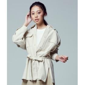HONEYSUCKLE ROSE ウエストマークビックシャツ レディース オフシロ