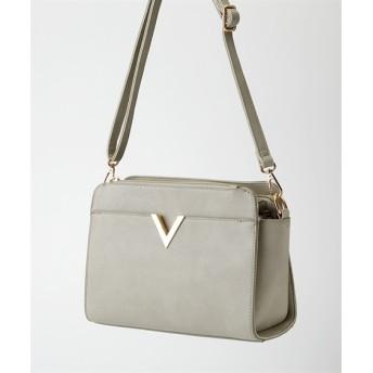 V金具デザインショルダーバッグ ショルダーバッグ・斜め掛けバッグ, Bags, 鞄