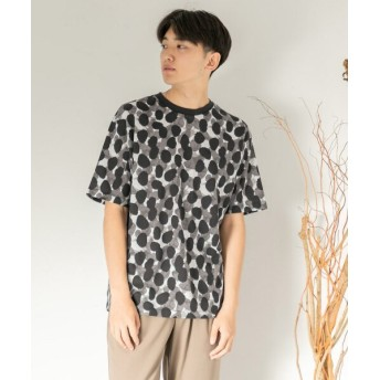 【58%OFF】 センスオブプレイス ペイントTシャツ(5分袖) メンズ BLACK M 【SENSE OF PLACE】 【セール開催中】