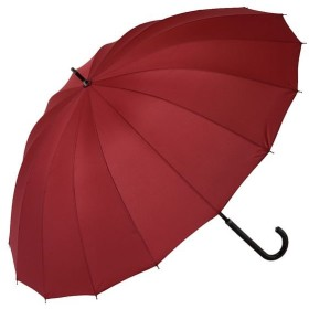 【22%OFF】 BACKYARD FAMILY 雨に濡れると柄が浮き出る傘 ジャンプ傘 16本骨傘 レディース エンジ 桜雫ジャンプ傘 【BACKYARD FAMILY】 【セール開催中】
