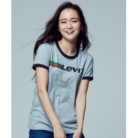 Levi's リンガープリントTシャツ レディース グレー
