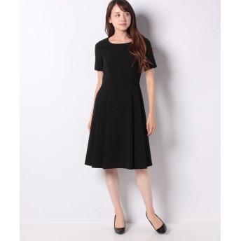 ミス ジェイ シルキーストレッチ ドレス レディース ブラック 38 【MISS J】