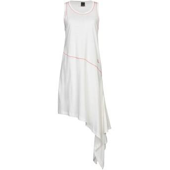 《9/20まで! 限定セール開催中》PINKO レディース 7分丈ワンピース・ドレス ホワイト S コットン 100%