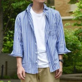 [マルイ]【セール】SC: カラミ/ドビー セミワイドカラー 7スリーブシャツ/シップス(メンズ)(SHIPS)