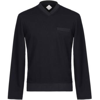 《セール開催中》PAL ZILERI メンズ スウェットシャツ ダークブルー 46 ナイロン 52% / レーヨン 43% / ポリウレタン 5%