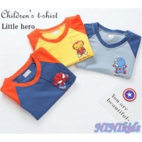【送料無料】子供服 男の子 tシャツ キッズ  夏 半袖  スパイダーマン 100%綿 80~130 NINIkids厳選 3colors