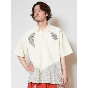 [マルイ] 【チャイハネ】木版プリントMEN'Sシャツ/チャイハネ(CAYHANE)
