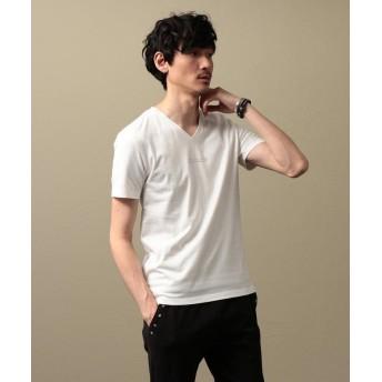 ラブレス MEN ポリクレストロゴVネックTシャツ メンズ ホワイト2 2 【LOVELESS】