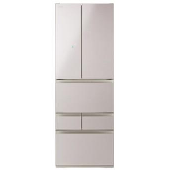 東芝462L 6ドアノンフロン冷蔵庫KuaL VEGETAクリアレディッシュゴールドGRM460FDEZN
