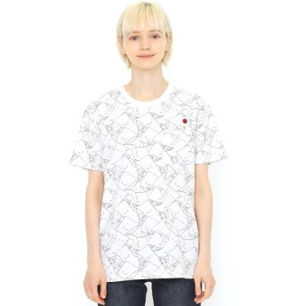 [マルイ] 【ユニセックス】コラボレーションTシャツ/一反もめんパターン(ゲゲゲの鬼太郎)/グラニフ(graniph)