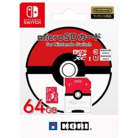 HORIポケットモンスター microSDカード for Nintendo Switch 64GB モンスターボールNSW191
