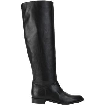 《セール開催中》LEONARDO PRINCIPI レディース ブーツ ブラック 38 牛革(カーフ) 100%