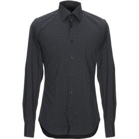《期間限定セール開催中!》XACUS メンズ シャツ ブラック 39 コットン 72% / ナイロン 25% / ポリウレタン 3%
