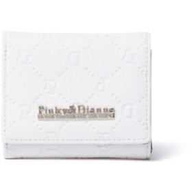 PINKY & DIANNE サフィアーノエンボス 三つ折りボックス折り財布