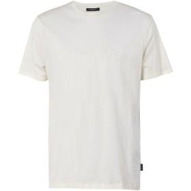 《期間限定セール開催中!》CALVIN KLEIN メンズ T シャツ アイボリー M コットン 100% JALO_6REFINED COTTO