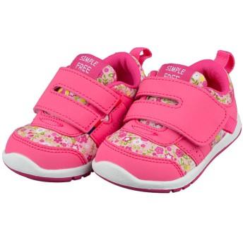 [12.5~14.5cm]シンプルフリー 履きやすいシューズ ピンク シューズ・ファッション小物 ベビーシューズ(~14.5cm) (84)