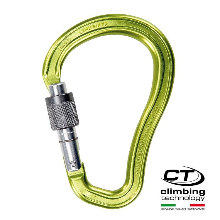 超輕水滴型鋁合金有鎖鉤環2C38500 Climbing Technology/城市綠洲(攀岩鉤環、義大利製造、鋁合金)