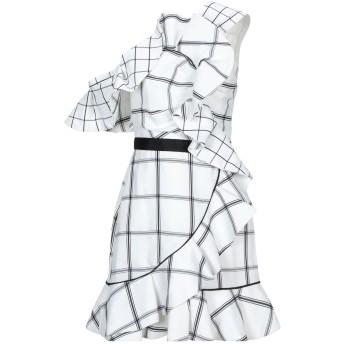 《セール開催中》SELF-PORTRAIT レディース ミニワンピース&ドレス ホワイト 10 エラストマルチエステル 58% / ポリエステル 35% / レーヨン 7%