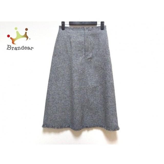 ルシェルブルー LE CIEL BLEU ロングスカート サイズ36 S レディース 美品 グレー×黒 新着 20190710