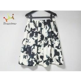 ダーマコレクション DAMAcollection スカート サイズ61 レディース 白×ダークネイビー 花柄 新着 20190710