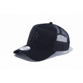 【ニューエラ公式】 9FORTY A-Frame トラッカー MLBカスタム ニューヨーク・ヤンキース ブラック × ブラック メンズ レディース 56.8 - 60.6cm MLB キャップ 帽子 12119336 NEW ERA メッシュ