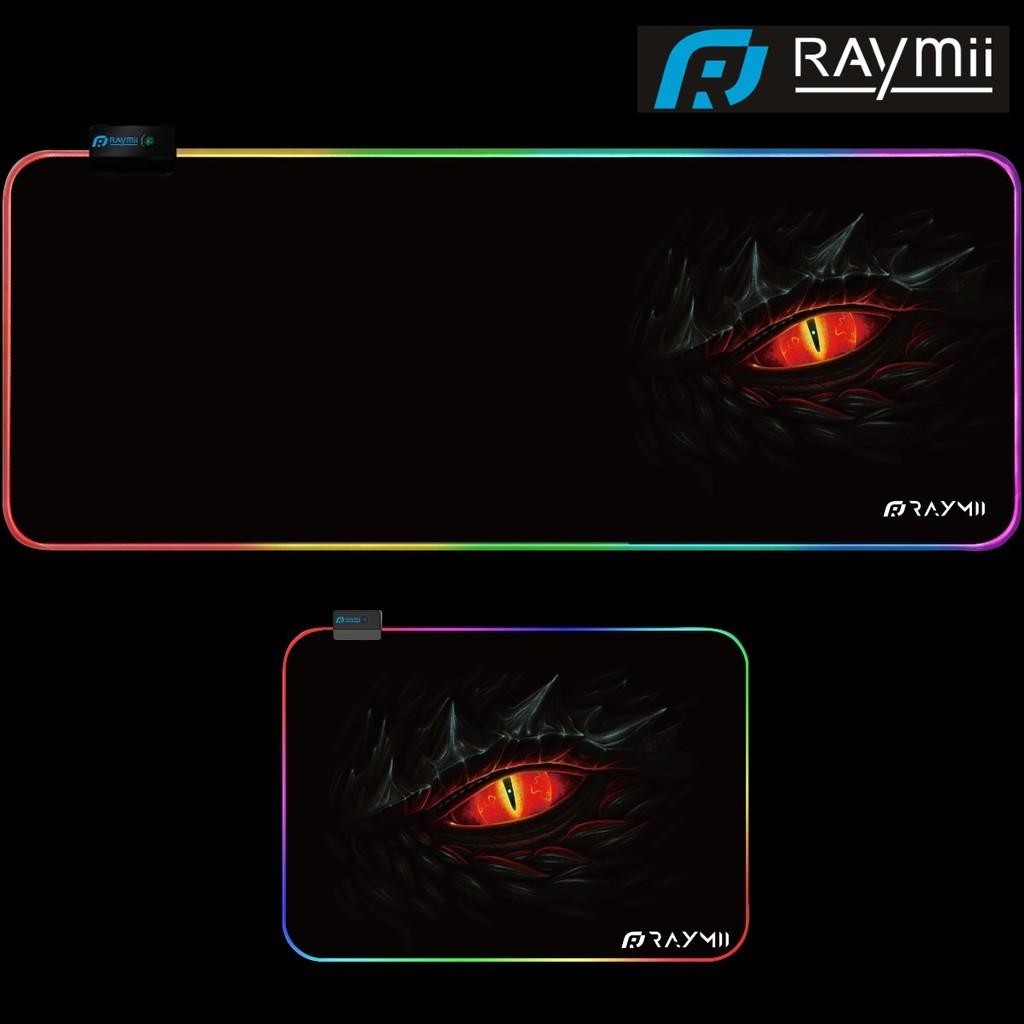 RAYMII RGB幻彩發光滑鼠墊 - 龍眼布面