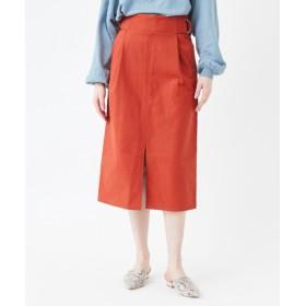 サイドベルトスリットAラインスカート