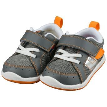 [12.5~14.5cm]シンプルフリー 履きやすいシューズ グレー シューズ・ファッション小物 ベビーシューズ(~14.5cm) (84)