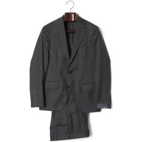 【70%OFF】LARDINI シャドーストライプ ノッチドラペル スーツ チャコール 42