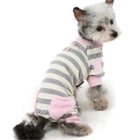 【オンワード】 PET PARADISE(ペットパラダイス) ペットパラダイス ボーダーロンパース ピンク×白[小型犬] ピンク(淡) DS