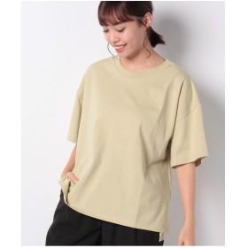 koe ショート丈ビッグTシャツ(ライトベージュ)【返品不可商品】